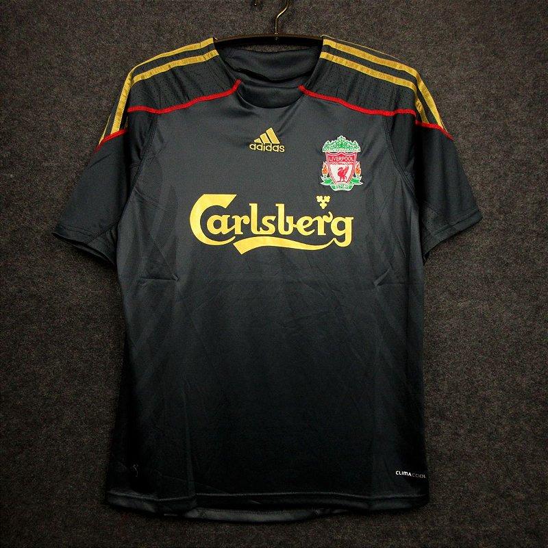Camisa Liverpool 2009 2010 Away Uniforme 2 Acervo Das Camisas
