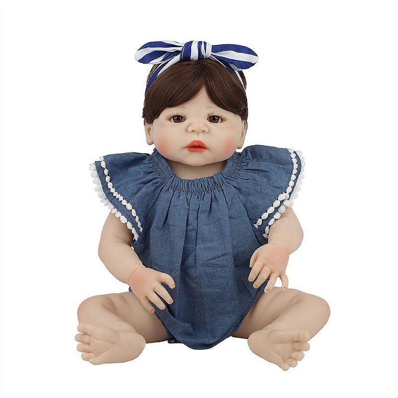 Bebê Reborn de Silicone Menina Amanda