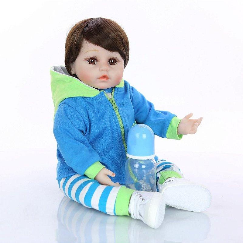 Bebê Reborn Menino Lucas 48 cm
