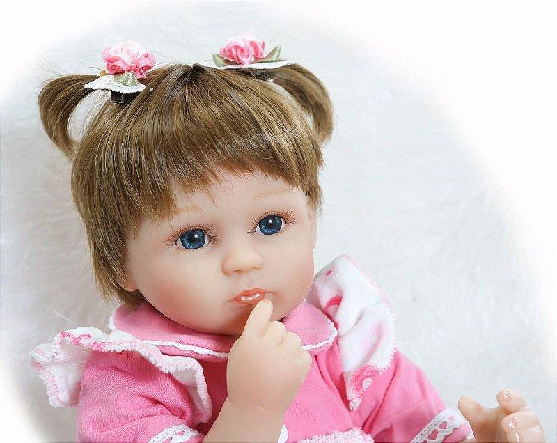 Bebê Reborn Caroline Boneca Realista Original Barato