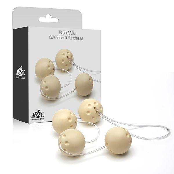 Bolas Pompoar Ben-wa 4 Bolas Marfim - AC007