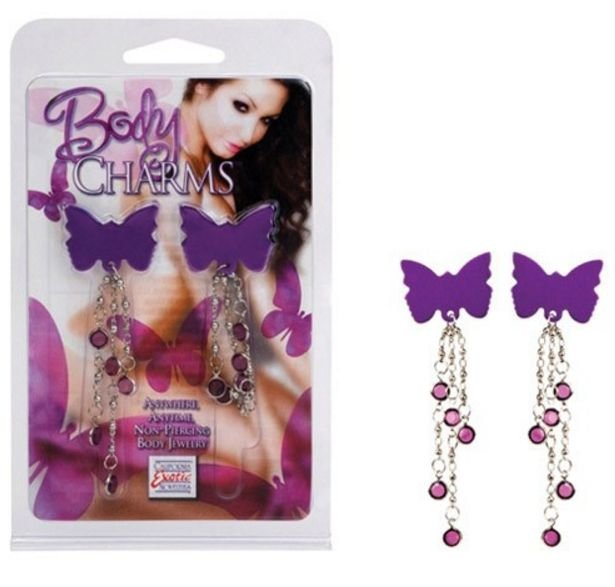Kit com 2 Piercings de Borboletas Body Charms - SE2613-60