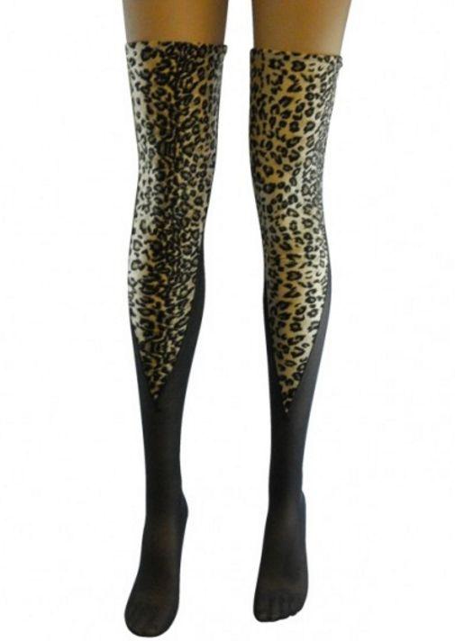 Meia 7/8 Sensual Leopardo - CL9525