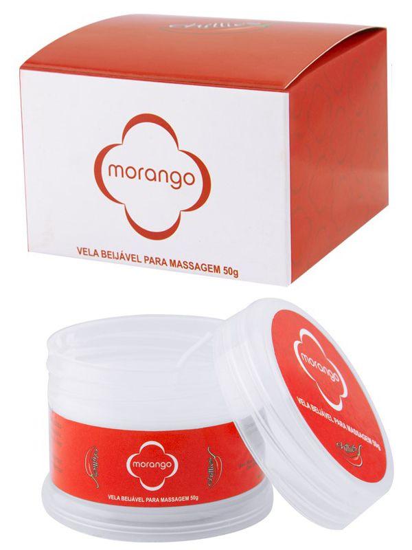 Vela para Massagem Beijável Morango 50 g