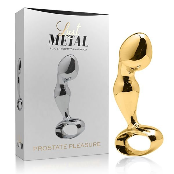 Massageador de Próstata Lust Metal Plug Prostate Pleasure Gold - LM024