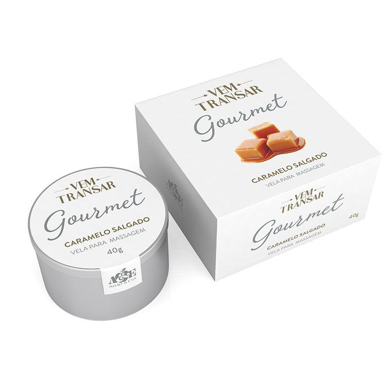 Vela Gourmet Beijável para massagem  - Caramelo Salgado - 40gr - VT027