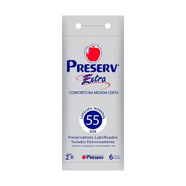 Preservativo Preserv Extra com 6 Unidades