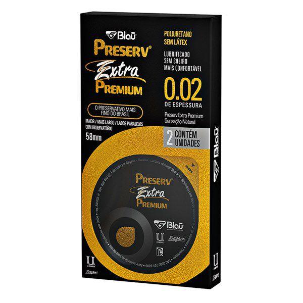 Preservativo Preserv Extra Premium com 2 Unidades