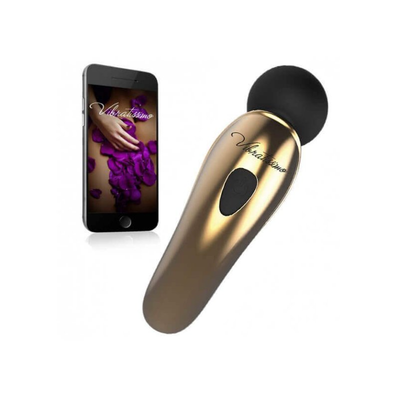 Vibratissimo Little Want Preto - Vibrador massageador em silicone com aplicativo para celular - 21042