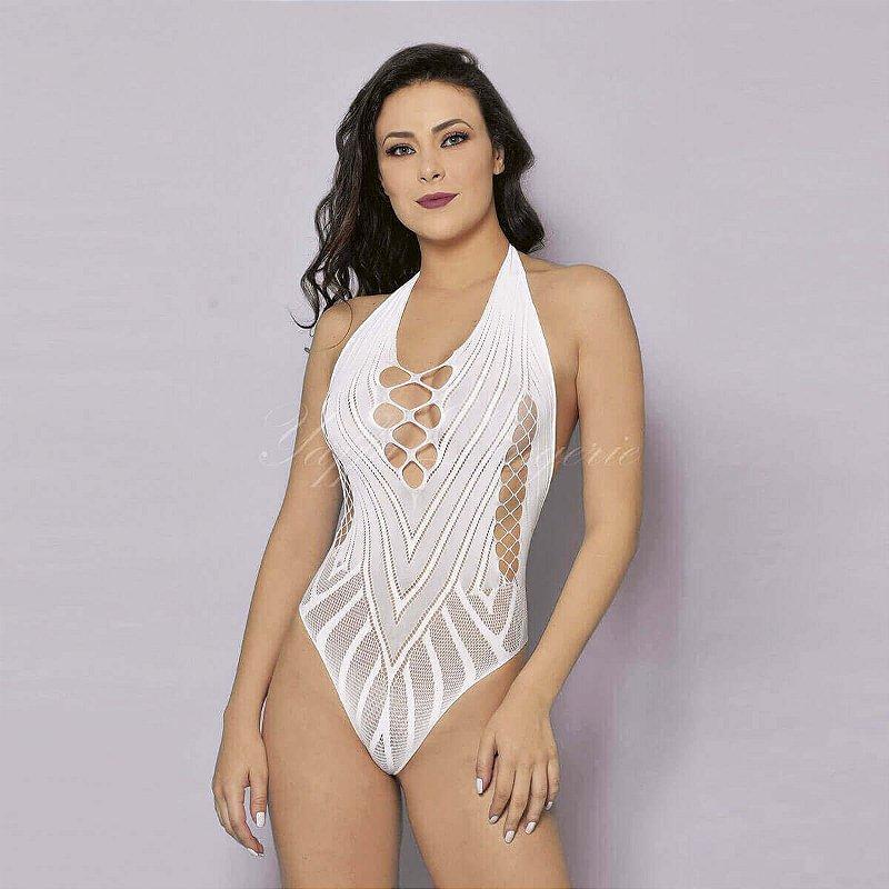 Body com Detalhes Branco Yaffa - Y1060
