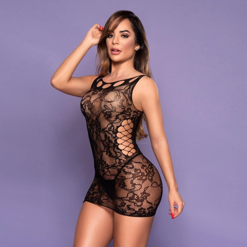 Mini Vestido Rendado Yaffa - Y6225
