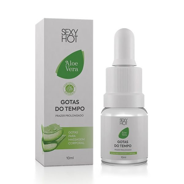 Aloe Vera Gotas do Tempo Prazer Prolongado 10ml - CO552