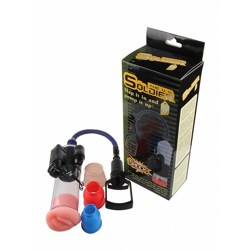 The U.S. Soldier Shock bomba peniana manual com cápsula vibratória - 6376