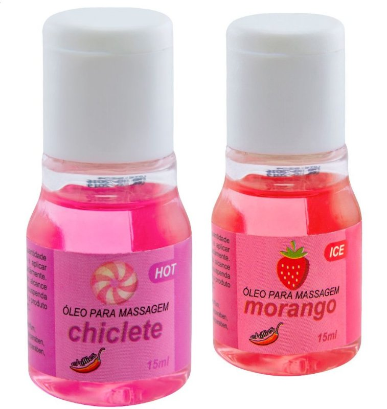 kit de Gel Aromatizante Ice Morango com Champagne e Hot Chiclete