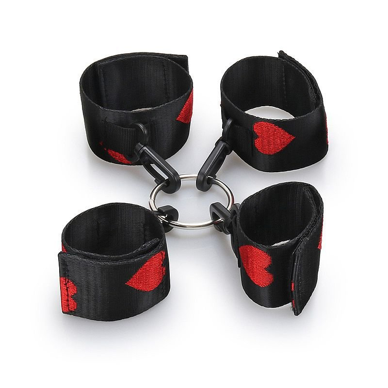 kit Bondage com algemas e tornozeleiras - 5887