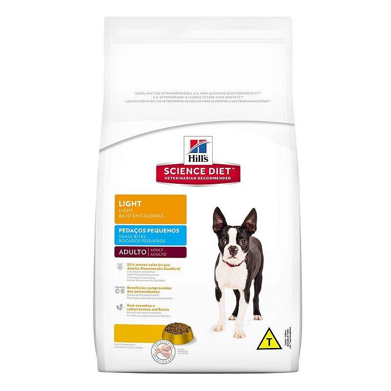 Ração Hill´s Cães Adultos Light Pedaços Pequenos 7,5kg
