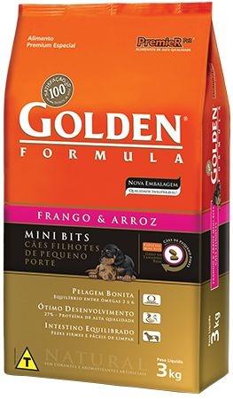 Ração Premier Golden Formula Filhotes Frango & Arroz Mini Bits 10,1 kg