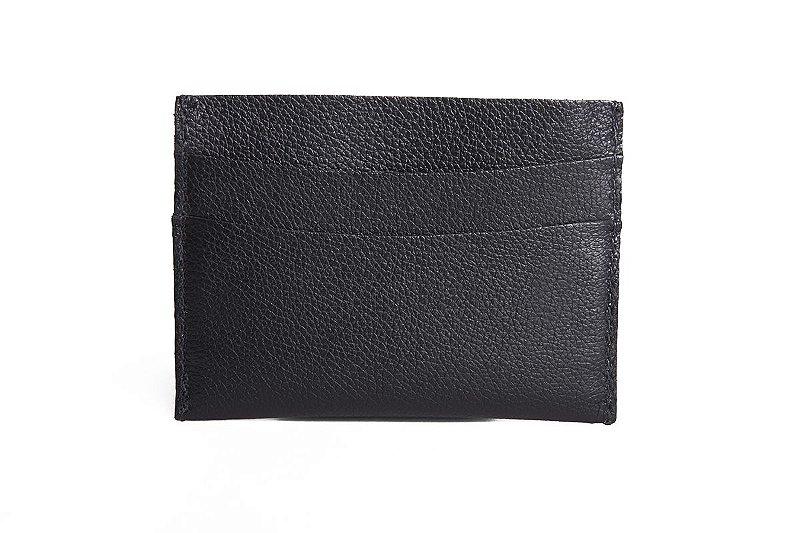 Mini carteira em couro Balaia preta