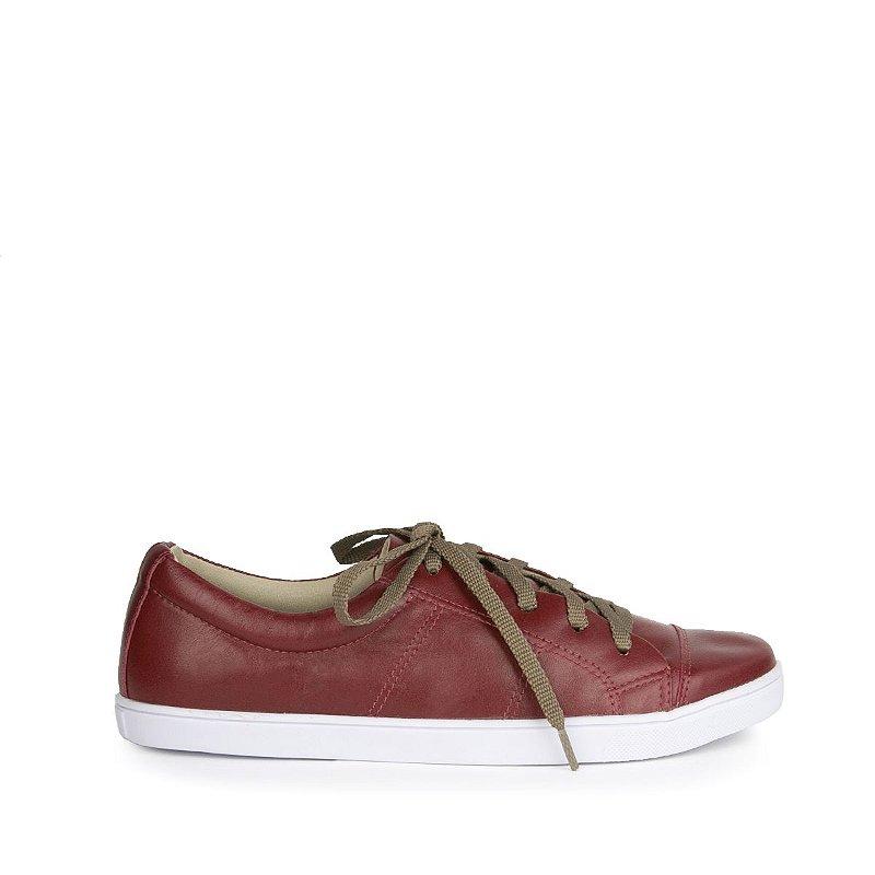Sneaker em Couro MOD203 Bordô