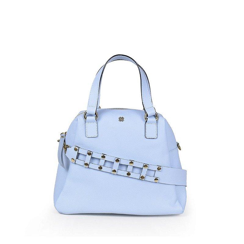 Bolsa em couro Balaia Tivoli Azul Celeste