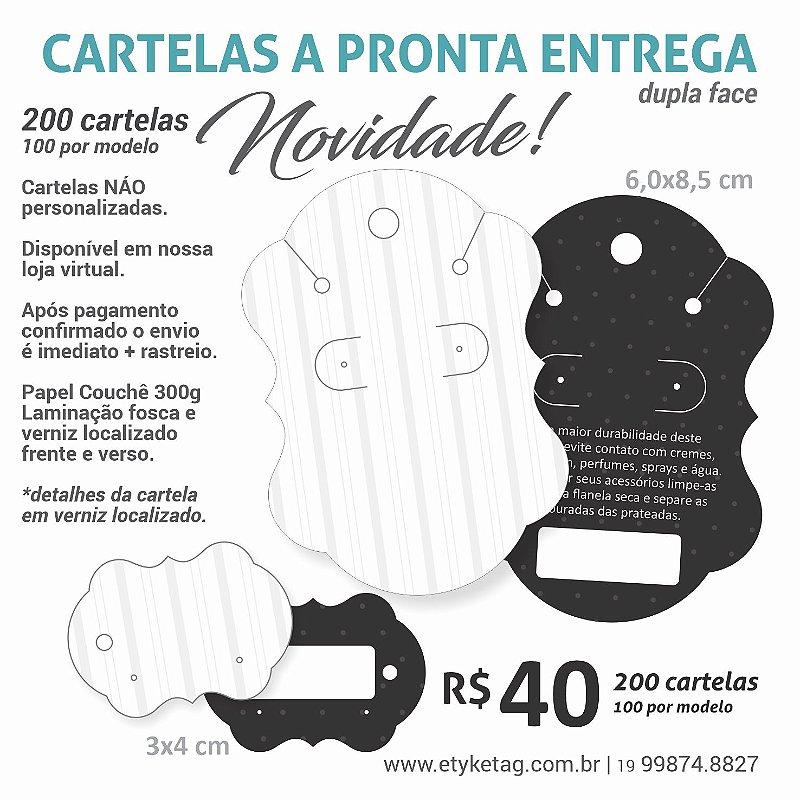 COMBO CARTELA 100/200  BCO / PRETO