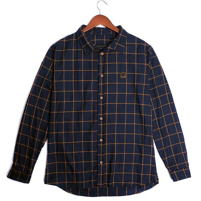 Camisa Flanela Manga Longa - Xadrez Marinho