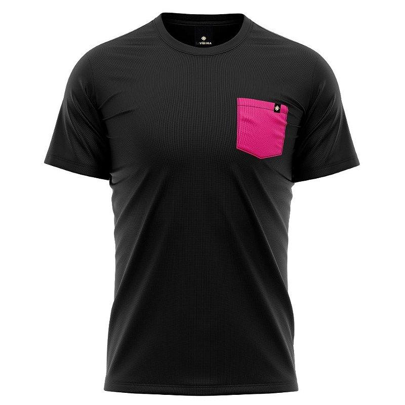 Camiseta Básica Algodão Premium 30.1 - Bolso Colorido