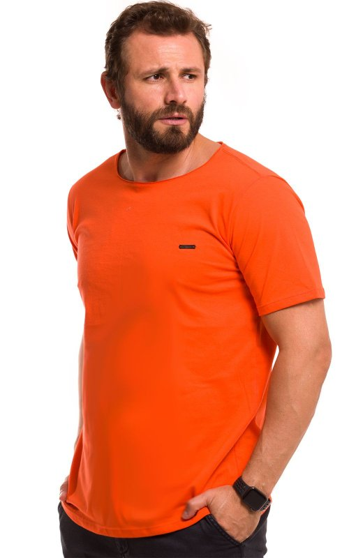 Camiseta Básica Corte A Fio 100% Algodão LaVíbora - Laranja