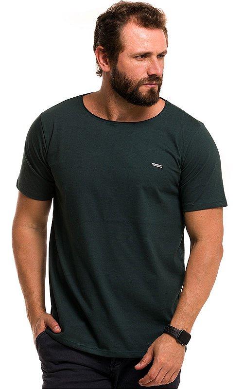 Camiseta Básica Corte A Fio 100% Algodão LaVíbora - Verde Floresta