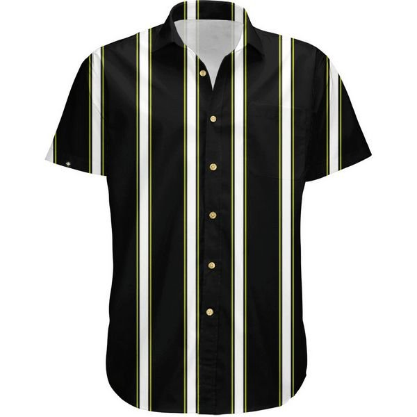Camisa Masculina Estampada Manga Curta Viscose - Listrada Tricolor