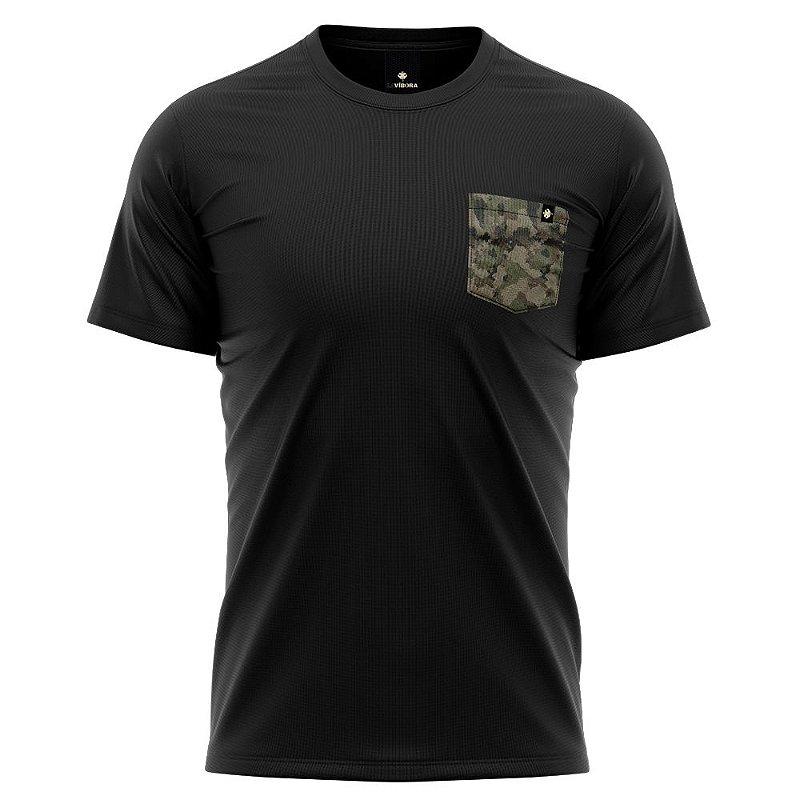 Camiseta Bolso Estampado Camuflado