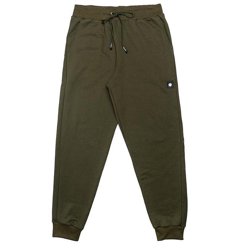 Calça Moletom Masculina Jogger LaVíbora - Verde Militar