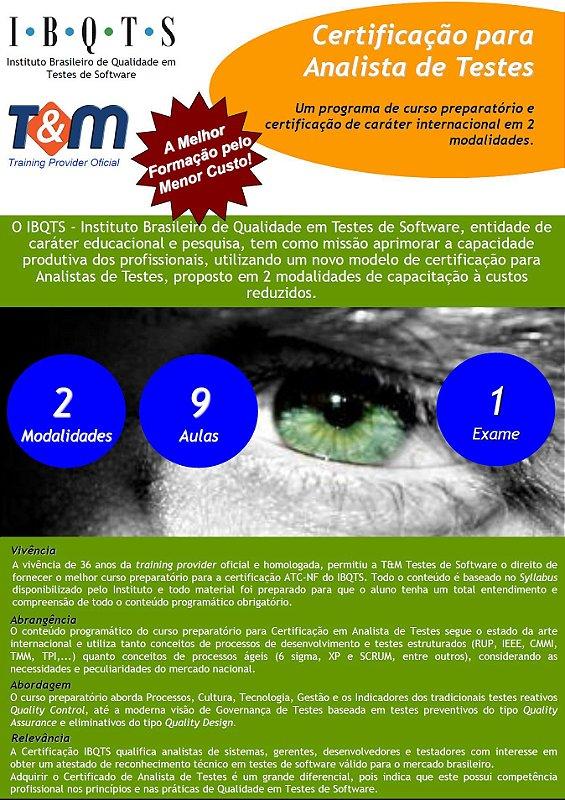 Treinamento Preparatório e Exame ATC NF Analistas de Testes