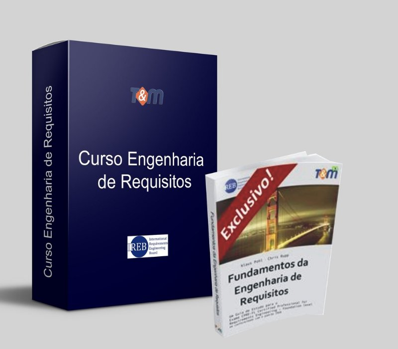 Curso Engenharia de Requisitos Preparatório para Exame de Certificação CPRE-FL + Exame + Livro - Estudantes - Apenas São Paulo - TURMA EM FORMAÇÃO