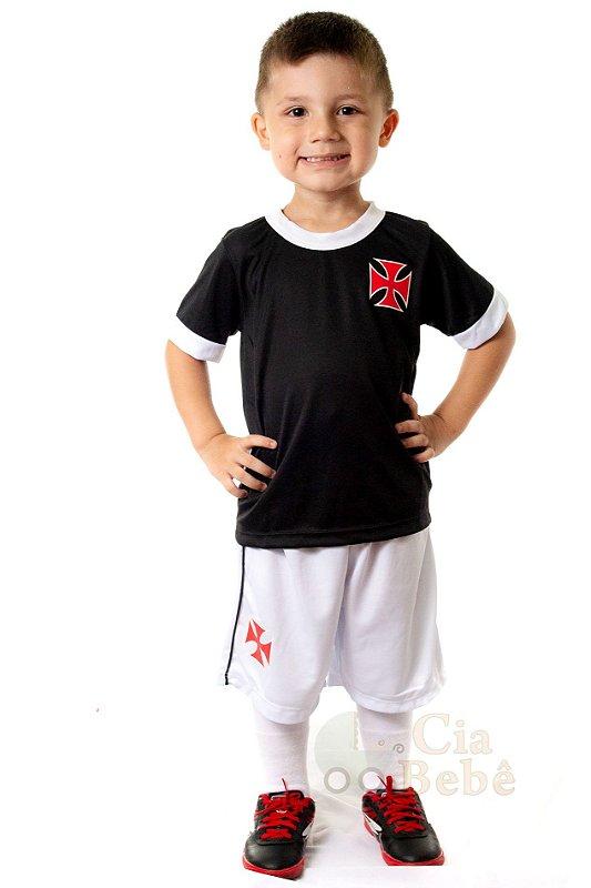 cdaafe7ae9409 Conjunto Infantil Vasco Uniforme Artilheiro Oficial