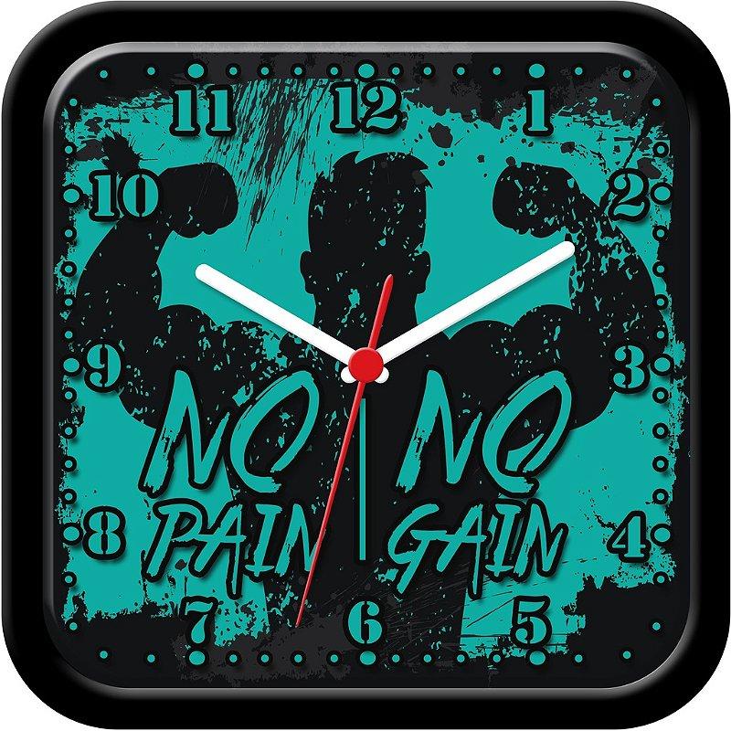 Relógio de parede divertido - No pain, no gain