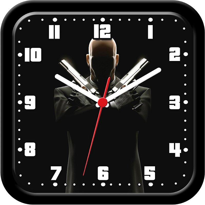 Relógio de parede divertido - Hitman, agente 47