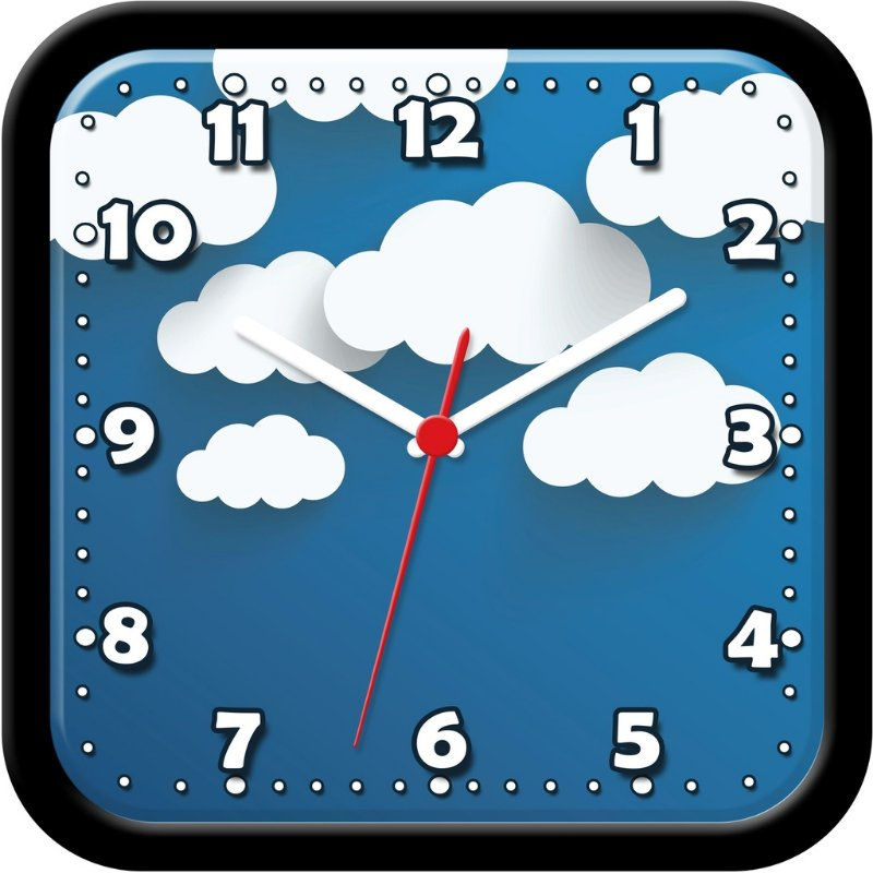 Relógio de parede divertido - Nuvens