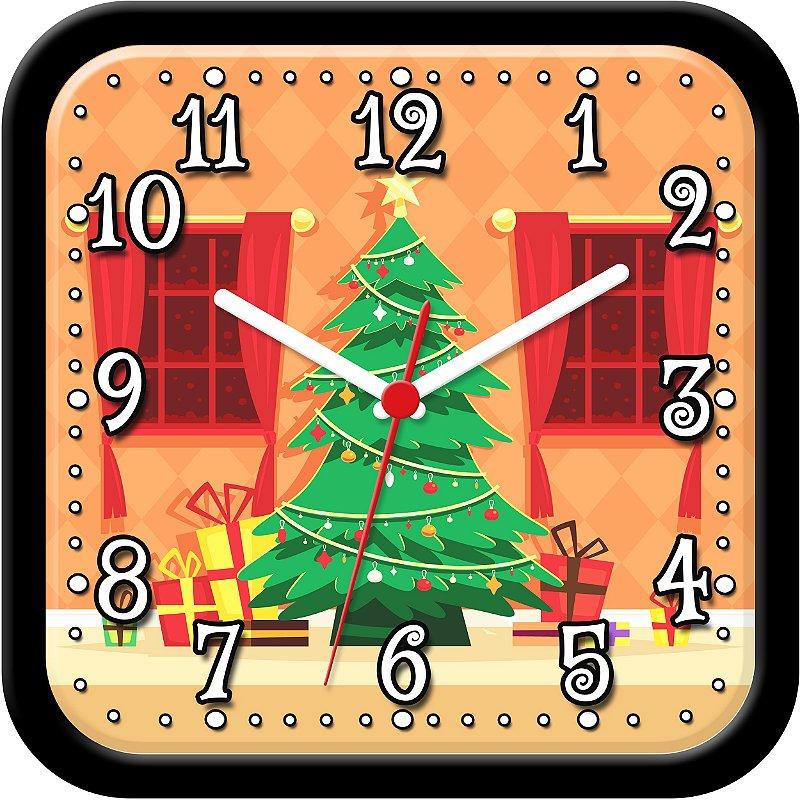 Relógio de parede divertido - Árvore de Natal