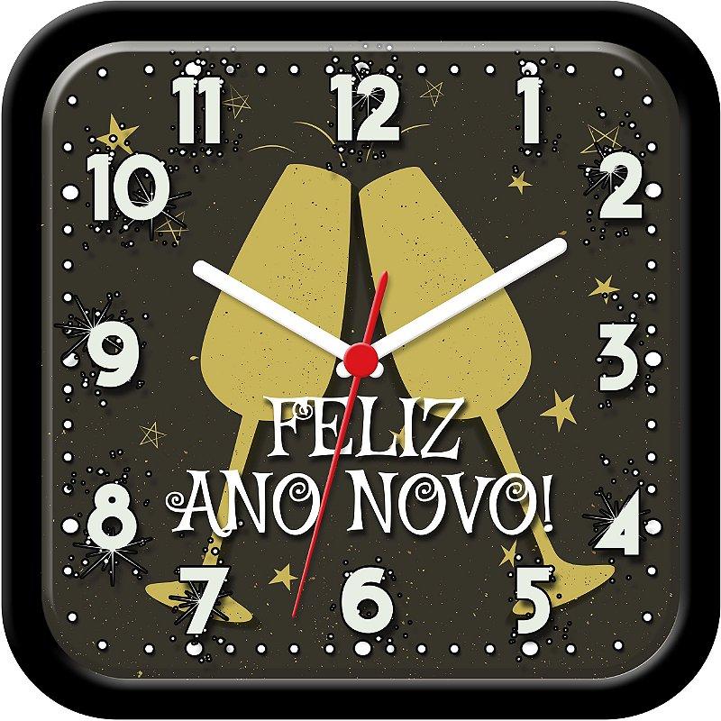 Relógio de parede divertido - Feliz Ano Novo