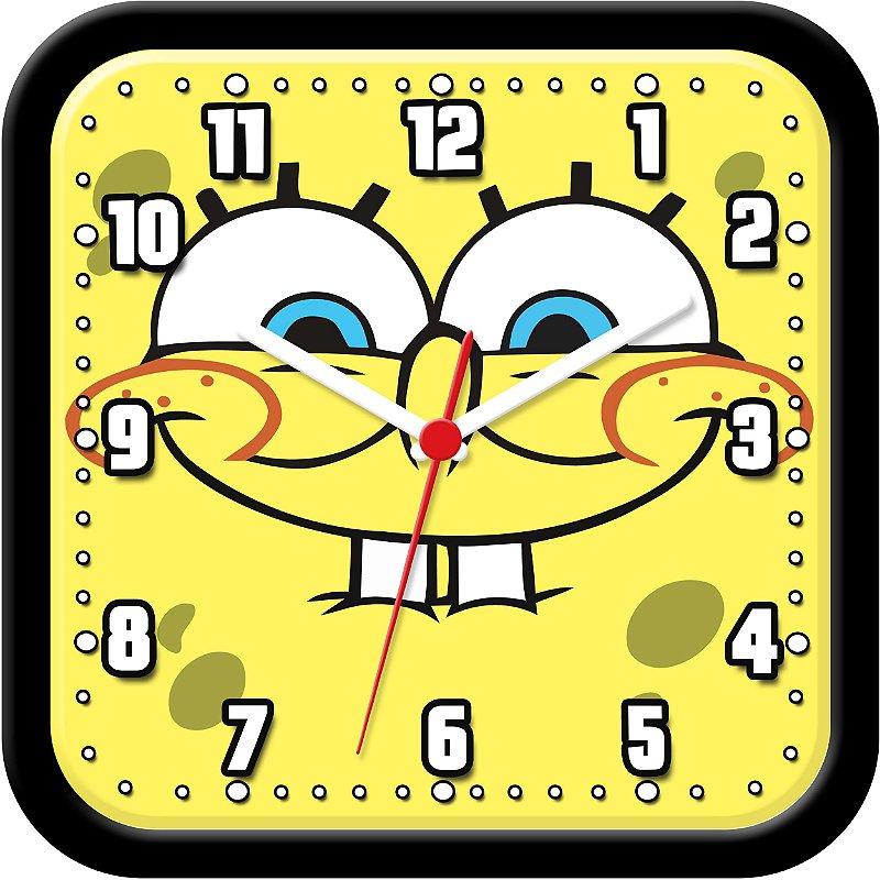 Relógio de parede divertido - Bob Esponja Calça Quadrada