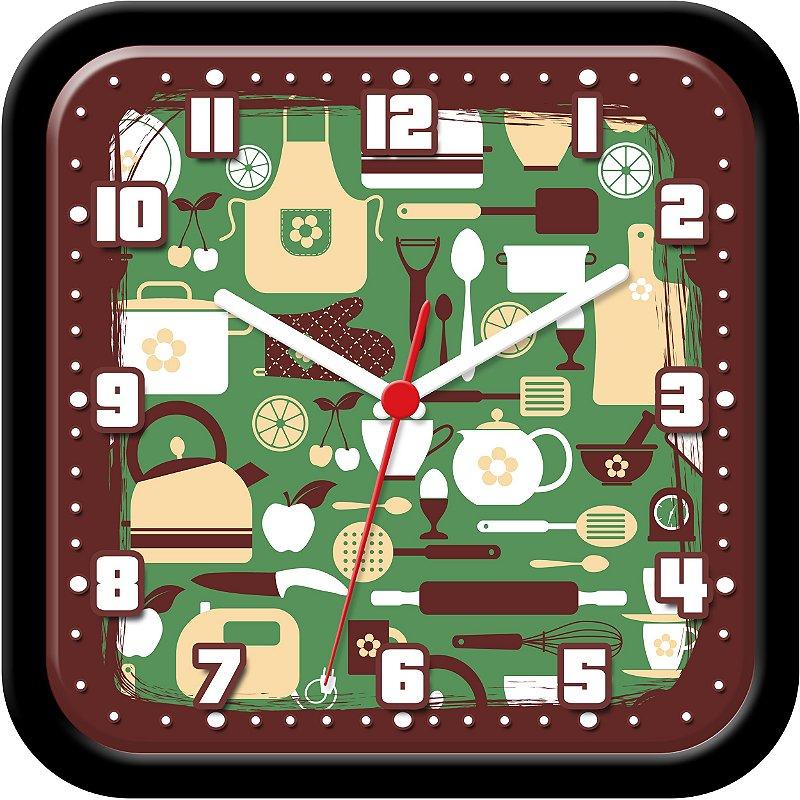 Relógio de parede divertido - Cozinheira, Cozinha e Coisas de Cozinha!