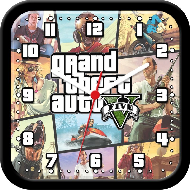 Relógio de parede divertido - GTA V - Gran Theft Auto 5