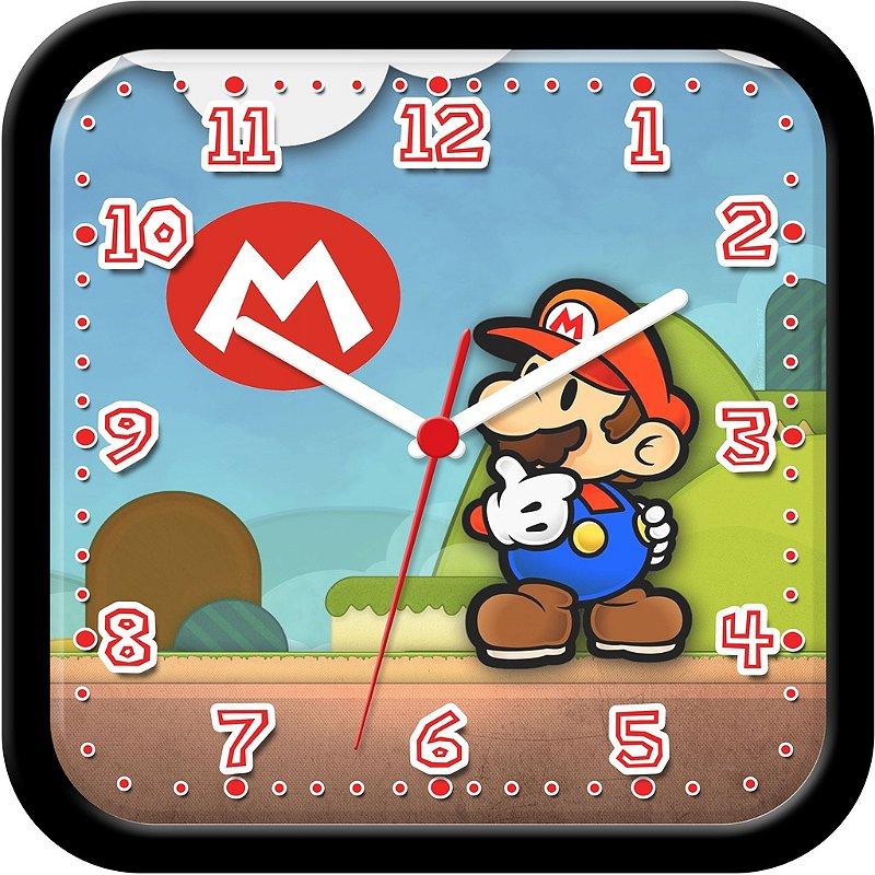 Relógio de parede divertido - Super Mario Bros