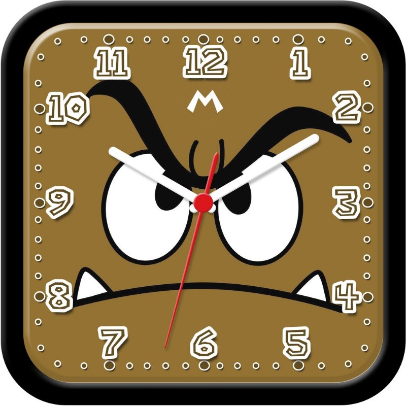Relógio de parede divertido - Super Mario Bros Goomba