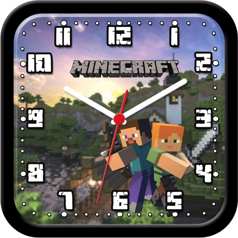 Relógio de parede divertido - Minecraft