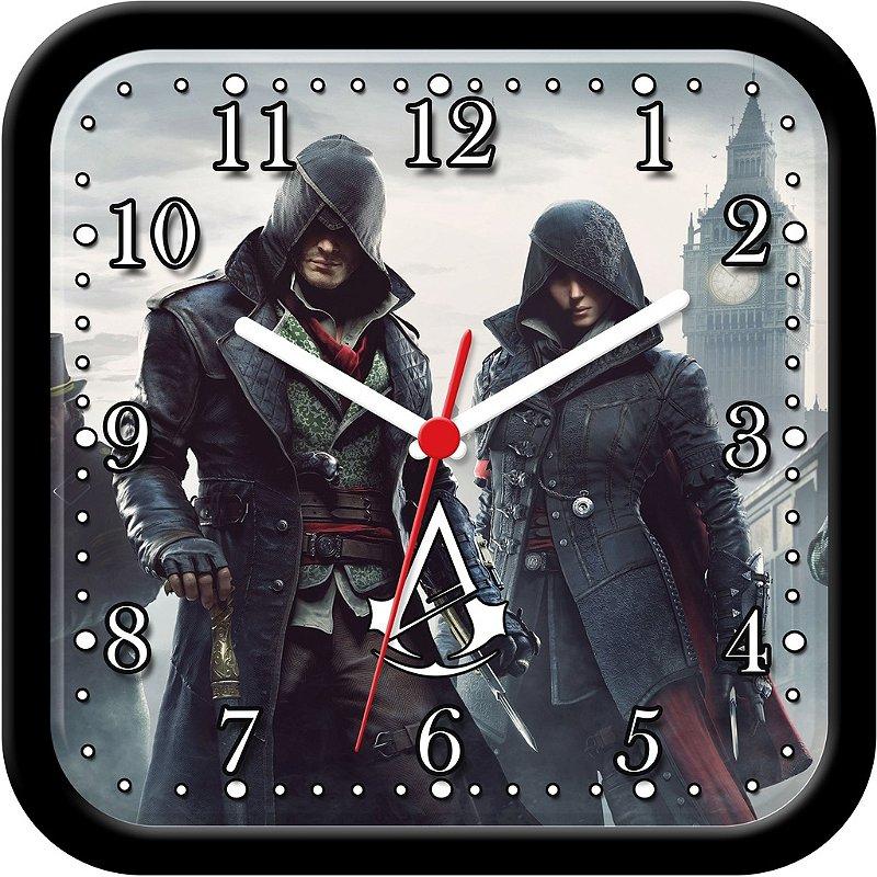 Relógio de parede divertido - Assassin's Creed Syndicate