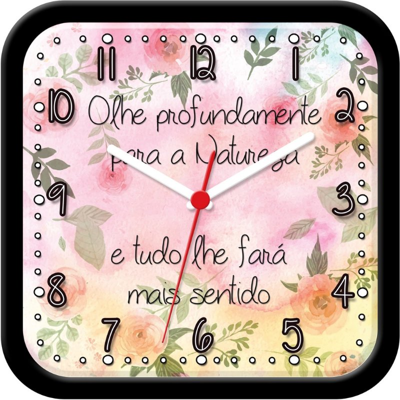 Relógio de parede Divertido - Flores e Natureza