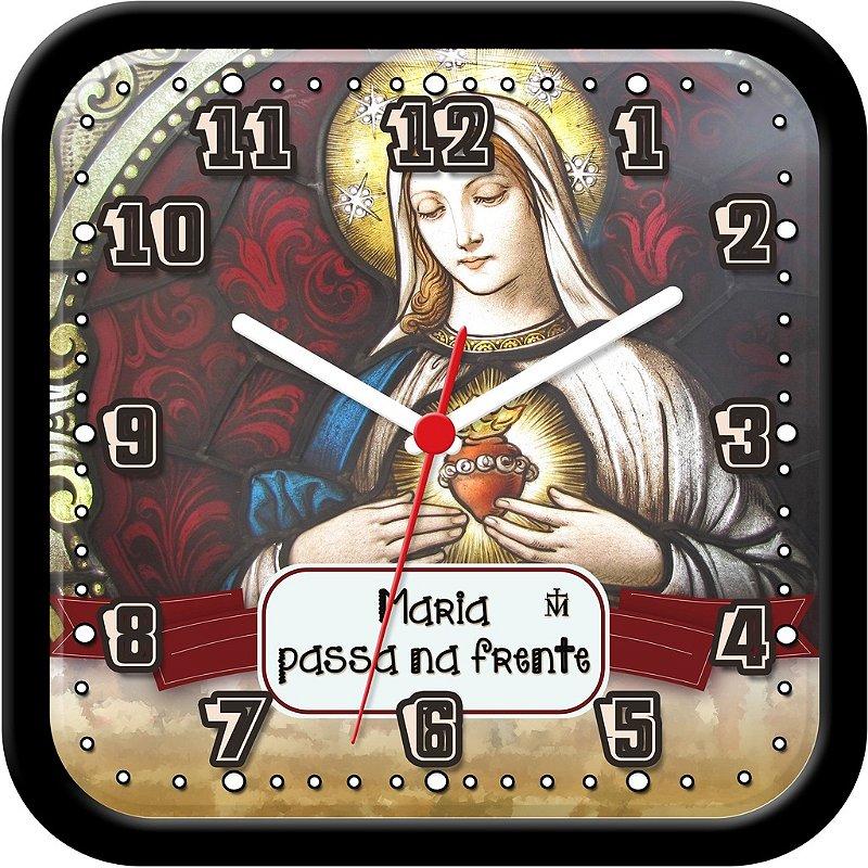 Relógio de parede religioso - Maria Passa na Frente