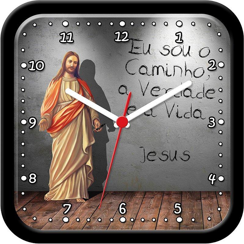 Relógio de parede religioso - Eu sou o Caminho, a Verdade e a Vida - Jesus